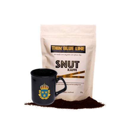 Snutkaffe hela bönor med polismugg