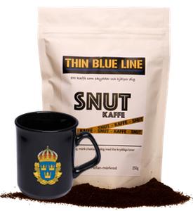 Snutkaffe malet med polismugg