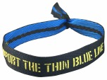 Tygarmband Thin Blue Line