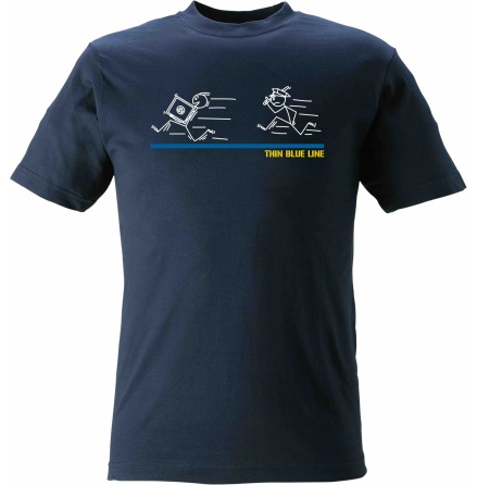 T-shirt Thin Blue Line Tjuv & Polis