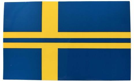 Klistermärke flagga bil/mc