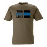 T-shirt Thin Blue Line INT OLIVE