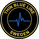 Klistermärke Thin Blue Line Sweden