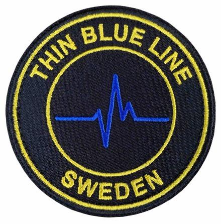Tygmärke Thin Blue Line runt