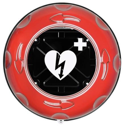 Rotaid Plus inomhusskåp med larm, rött,