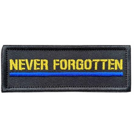 Tygmärke Never Forgotten