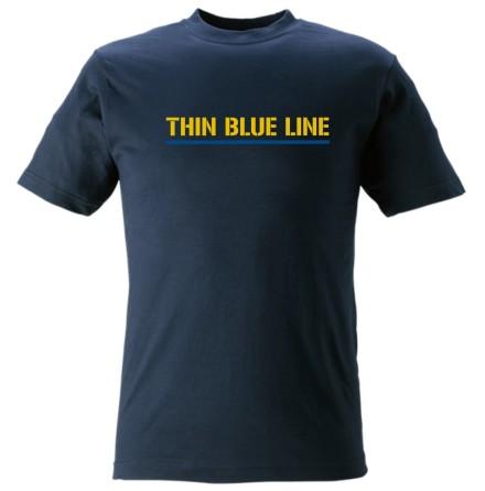 T-shirt bomull Thin Blue Line