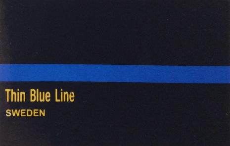 Klistermärke Thin Blue Line