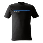 T-shirt Thin Blue Line svart