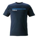 T-shirt Thin Blue Line marinblå