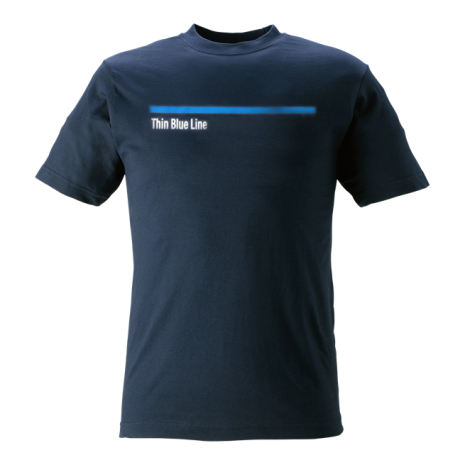 T-shirt Thin Blue Line marinblå